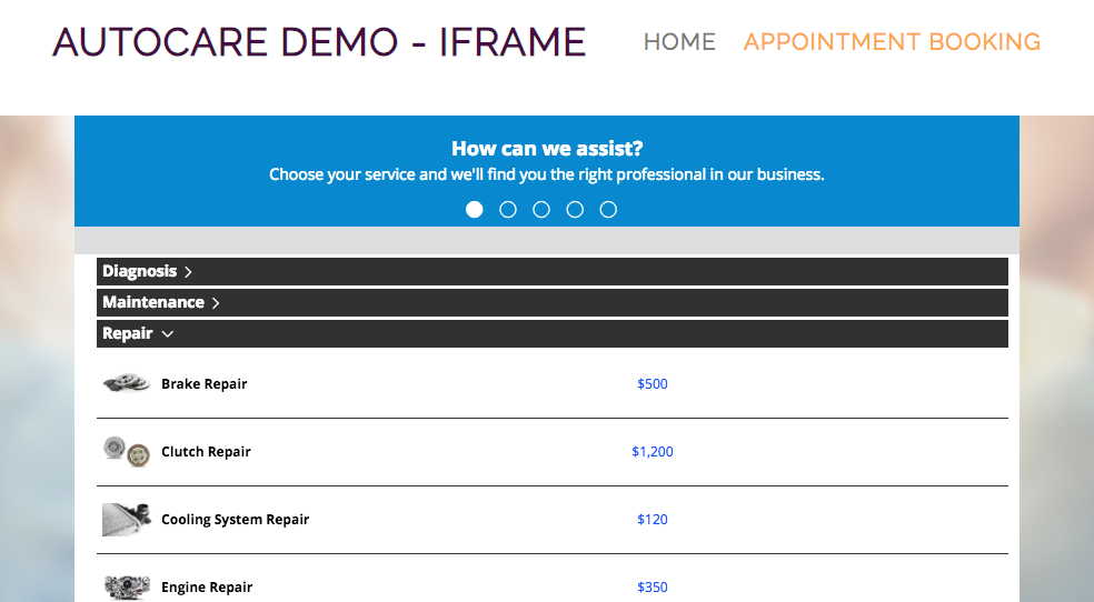 iFrame within a website