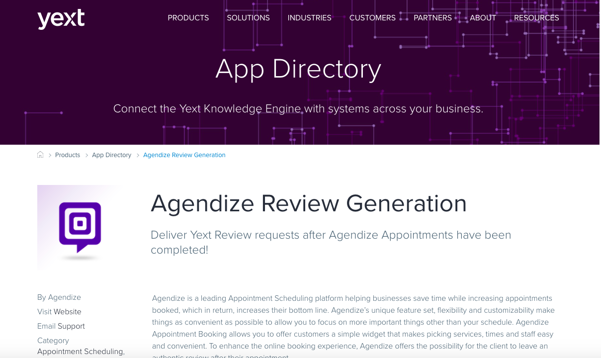 yext review- Agendize